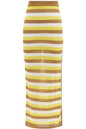 DODO BAR OR Sia Striped Pointelle-knit Midi Skirt - Womens - Multi