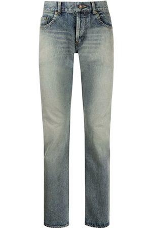 Saint Laurent Washed-effect slim fit 6830 jeans