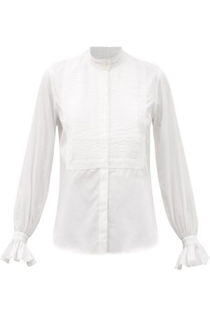 Bourrienne Paris X New Divine Pintucked Cotton-twill Shirt - Womens