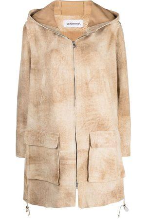SYLVIE SCHIMMEL Zip-up suede jacket - Neutrals