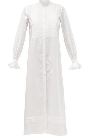 Bourrienne Paris X New Impertinente Pintucked Cotton-twill Dress - Womens