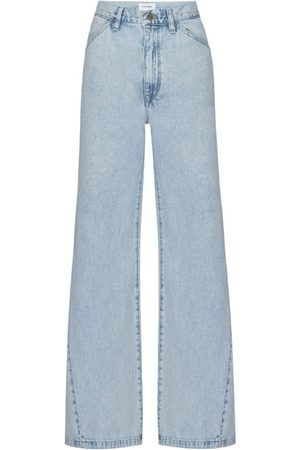Frame Le Baggy Wide-leg Jeans - Womens - Light Denim