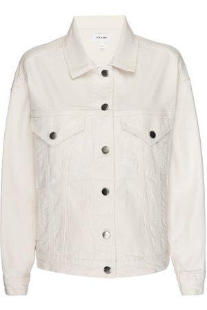 Frame Le Oversized Denim Jacket - Womens - / Ivory