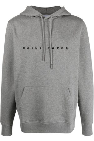 Daily paper Logo-embroidered cotton hoodie - Grey