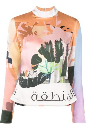 Elle B. Zhou Graphic-print silk top