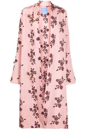 Macgraw St Peters floral-print silk robe