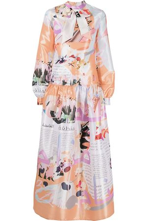 Elle B. Zhou Dreams of Old mix-print dress - Multicolour