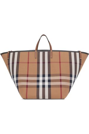 Burberry Large check beach tote bag