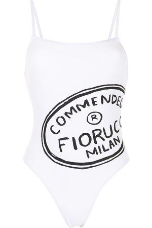 Fiorucci Logo-print swimsuit