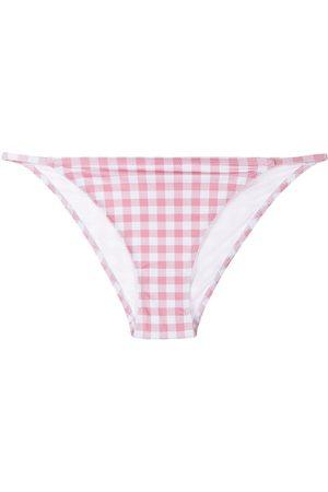 Fiorucci Women Bikinis - Gingham-print bikini bottoms