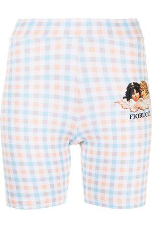 Fiorucci Gingham angels cycling shorts
