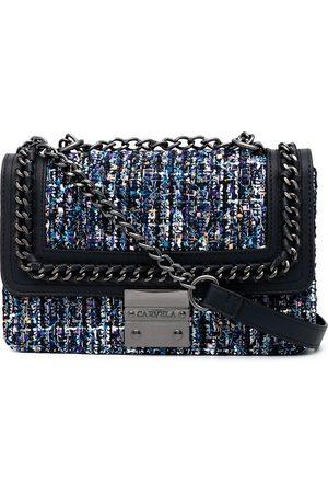 Carvela Bailey quilted tweed shoulder bag - Multicolour
