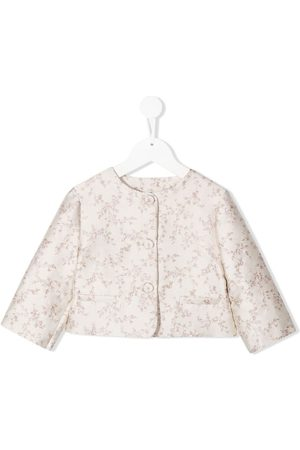 LA STUPENDERIA Luce floral jacquard jacket - Neutrals