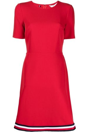 Tommy Hilfiger Signature-tape fitted dress
