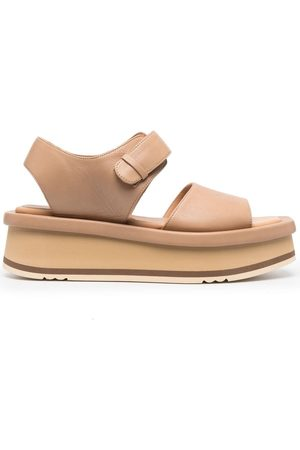 Paloma Barceló Mamore leather platform sandals - Neutrals