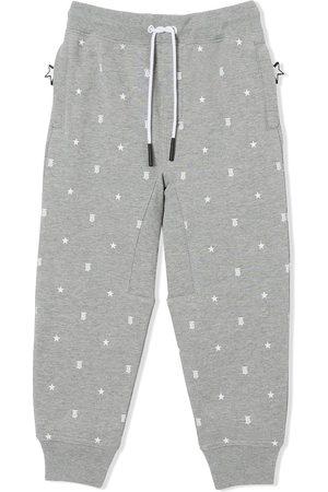 Burberry Star and monogram track pants - Grey
