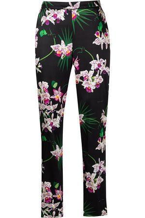FLEUR DU MAL Women Pajamas - Bedroom to Boardroom orchid-print trousers