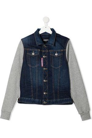 Dsquared2 Denim Jackets - TEEN panelled denim jacket