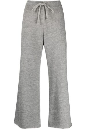 NILI LOTAN Raw-cut edge jogging trousers - Grey