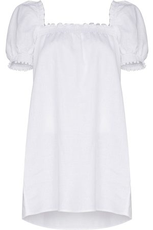 Reformation Square-neck linen minidress