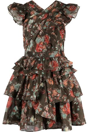 ULLA JOHNSON Floral print pleated dress