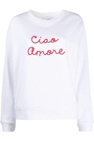 GIADA BENINCASA Ciao Amore bead-embellished sweatshirt
