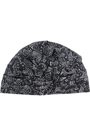 10 CORSO COMO Sketch-print turban hat