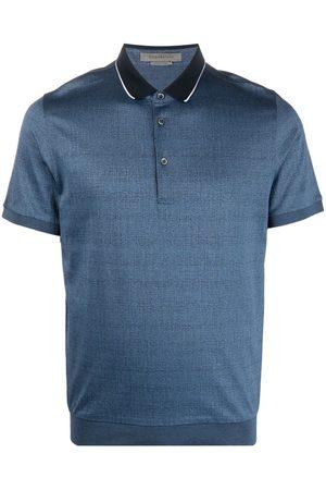 corneliani Contrasting-collar polo shirt