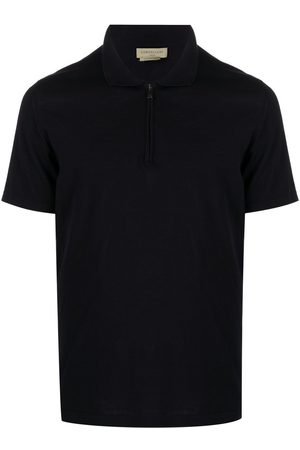 corneliani Zipped cotton polo shirt