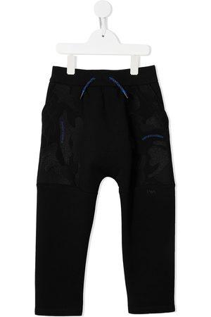 Emporio Armani Logo-embroidered track pants - 999 NERO