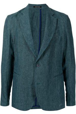 Emporio Armani Single-breasted linen blazer