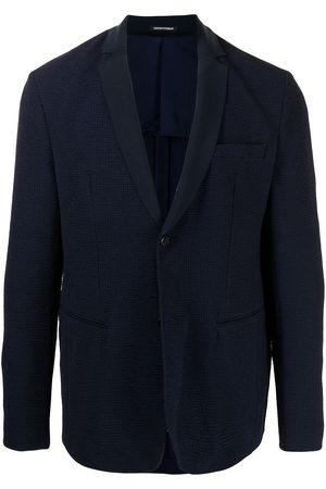 Emporio Armani Textured single-breasted blazer