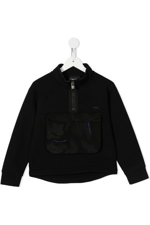 Emporio Armani Logo-embroidered jacket