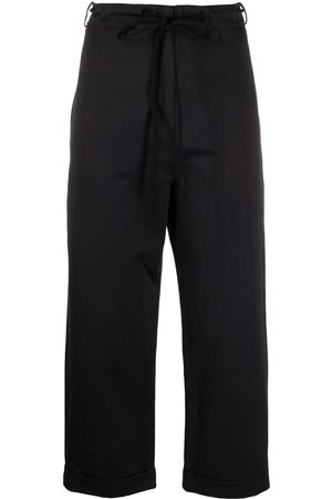 SARA LANZI Drawstring cropped trousers