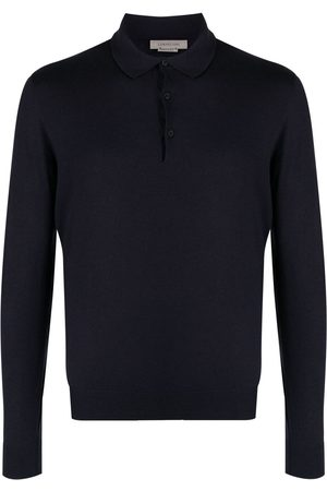corneliani Fine-knit long-sleeved polo shirt
