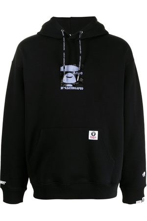 AAPE BY A BATHING APE Logo graphic print hoodie