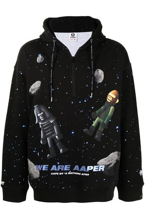 AAPE BY A BATHING APE Men Hoodies - Space print hoodie