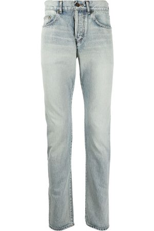 Saint Laurent Mid-rise straight-leg jeans