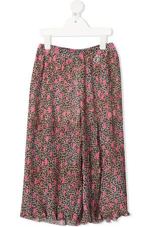 MISS BLUMARINE Leopard-print wide-leg trousers