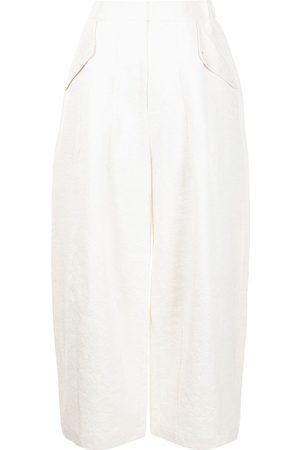 RENLI SU Floral-jacquard wide-leg trousers