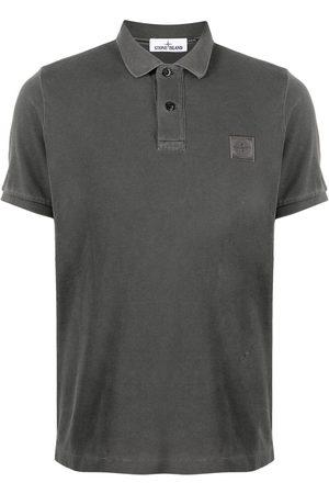Stone Island Logo-patch polo shirt - Grey