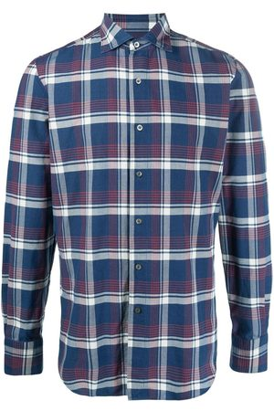 Finamore Check-print button-up shirt