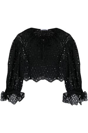 VIVETTA Cropped embroidered blouse