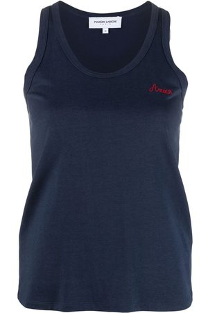 Maison Labiche Amour-embroidered tank top
