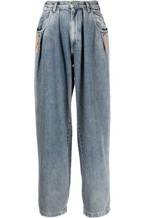 Diesel Women Tapered - Gathered-detail denim jeans