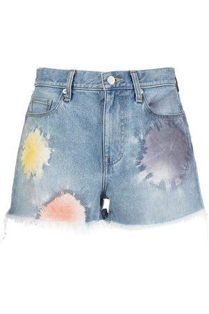 JOHN ELLIOTT Shibori Bloom high-waisted denim shorts