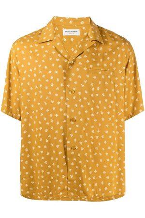 Saint Laurent Men Short sleeves - Floral-print short sleeve shirt