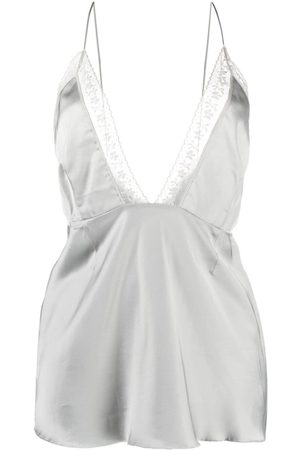 MM6 MAISON MARGIELA Plunge-neck camisole top - Grey