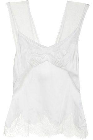 GOEN.J Double-layered lace-trimmed camisole