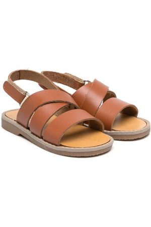 Babywalker Crossover-strap leather sandals